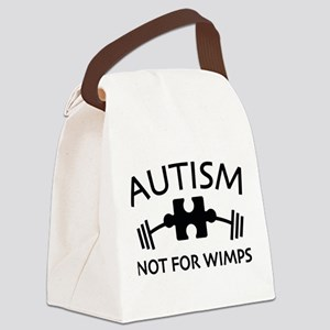Autism Not For Wimps Canvas Lunch Bag