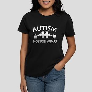 Autism Not For Wimps Women's Dark T-Shirt