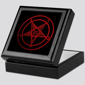Satanic Pentagram Keepsake Box
