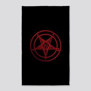 Satanic Pentagram Area Rug