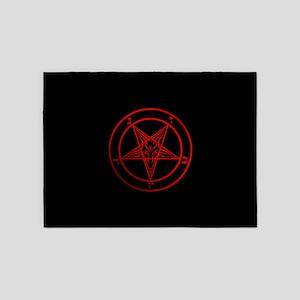Satanic Pentagram 5 X7 Area Rug