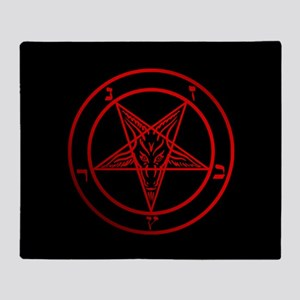 Satanic Pentagram Throw Blanket