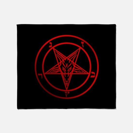 Satanic Pentagram Throw Blanket