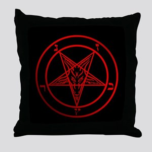 Satanic Pentagram Throw Pillow