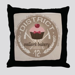 mellark bakery buttons hunger games u Throw Pillow