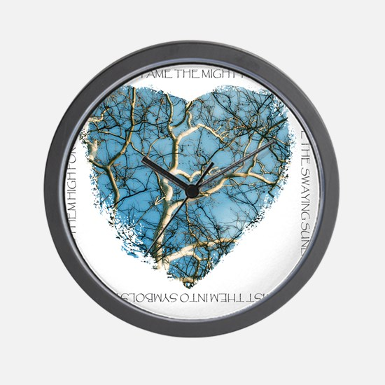 Branches of Love finish Wall Clock