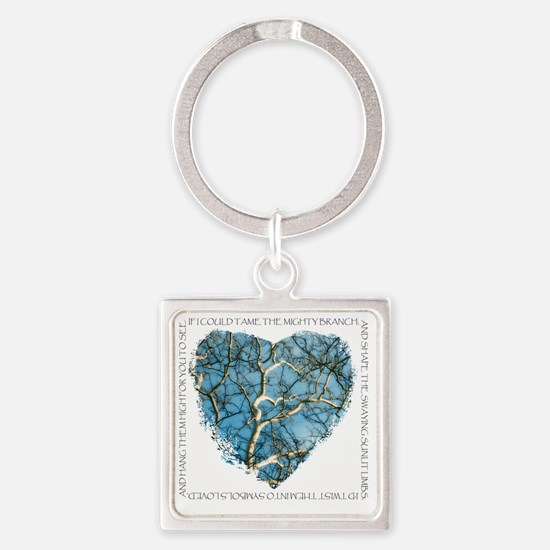 Branches of Love finish Square Keychain