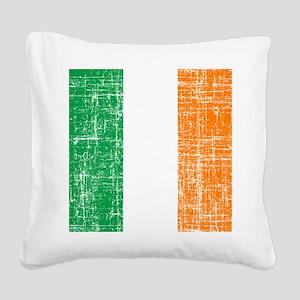 Vintage  Irish flag Square Canvas Pillow