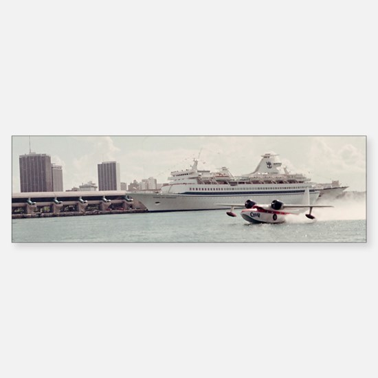 Chalks Seaplane In Biscayne bay,  Sticker (Bumper)