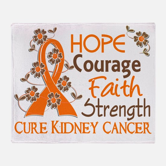 D Hope Courage Faith Strength 3 Kidn Throw Blanket
