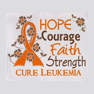 D Hope Courage Faith Strength 3 Leuk Throw Blanket