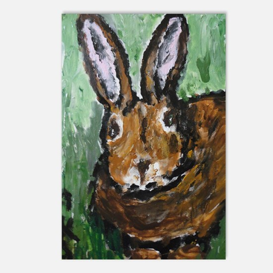 Chocolate Coloured Bunny  Postcards (Package of 8)