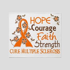 D Hope Courage Faith Strength 3 Mult Throw Blanket