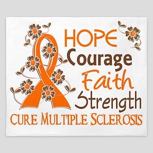 D Hope Courage Faith Strength 3 Multipl King Duvet