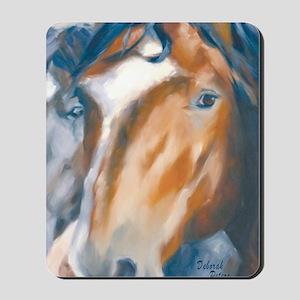 Horse Art Faces Mousepad