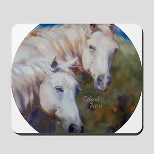 Horse Art White Mousepad