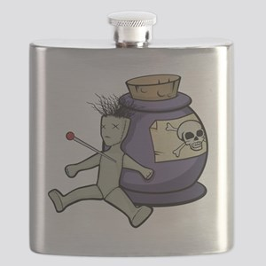 poison jar and voodoo doll Flask