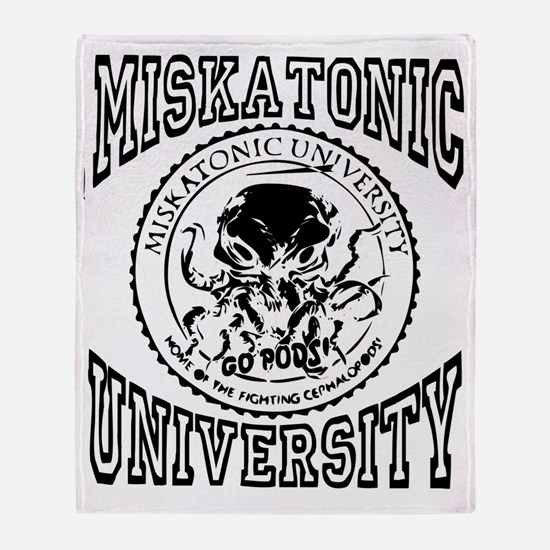 Miskatonic Light Throw Blanket