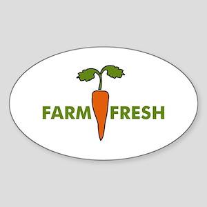Farm Fresh Oval Sticker