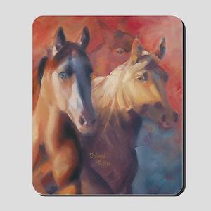 Horse Art Red Mousepad