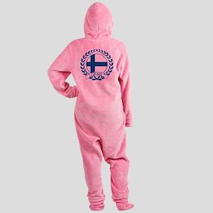 finlandwreath Footed Pajamas