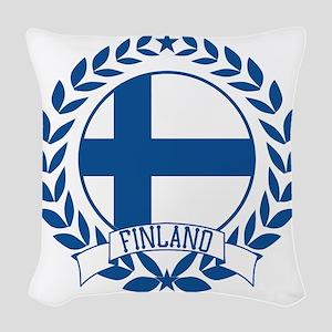 finlandwreath Woven Throw Pillow