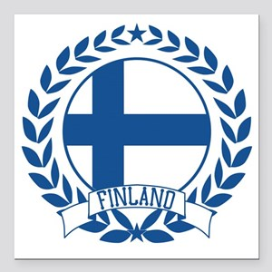 "finlandwreath Square Car Magnet 3"" x 3"""