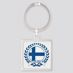 finlandwreath Square Keychain