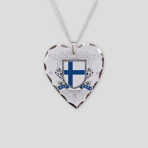 finlandshield Necklace Heart Charm