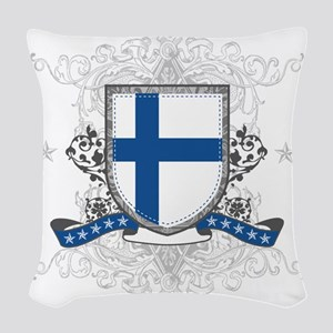 finlandshield Woven Throw Pillow