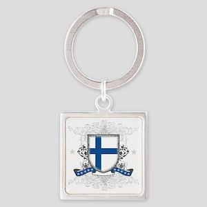 finlandshield Square Keychain