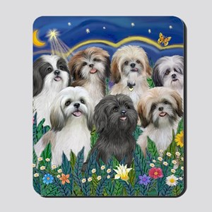 Tile-MoonGarden-7ShihTzuCUTIES Mousepad