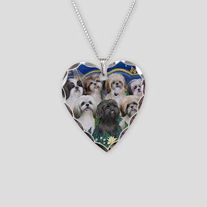 Tile-MoonGarden-7ShihTzuCUTIE Necklace Heart Charm
