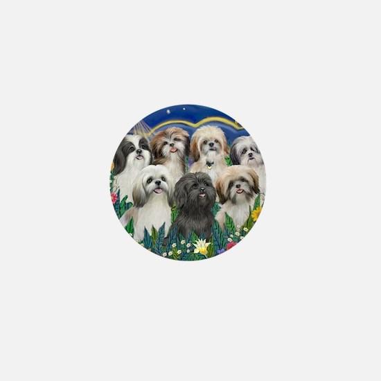 Tile-MoonGarden-7ShihTzuCUTIES Mini Button