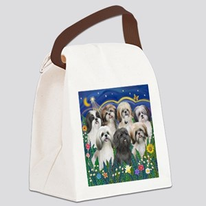 Tile-MoonGarden-7ShihTzuCUTIES Canvas Lunch Bag
