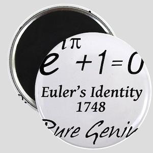 eulersIdentityPureGenius-1-blackLetters cop Magnet