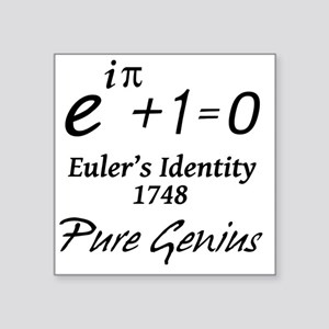 """eulersIdentityPureGenius-1- Square Sticker 3"""" x 3"""""""