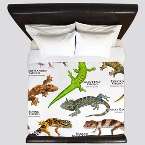 Geckos of the World King Duvet
