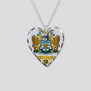 Brisbane (Flag 10)2 Necklace Heart Charm