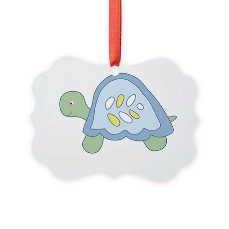 Turtle Reef Turtle Picture Ornament