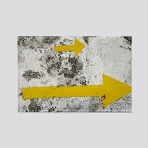 Yellow Arrows Rectangle Magnet