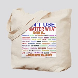 No MatterWhatTextColor. Tote Bag