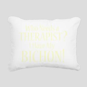 therapistbichonfrise_bla Rectangular Canvas Pillow