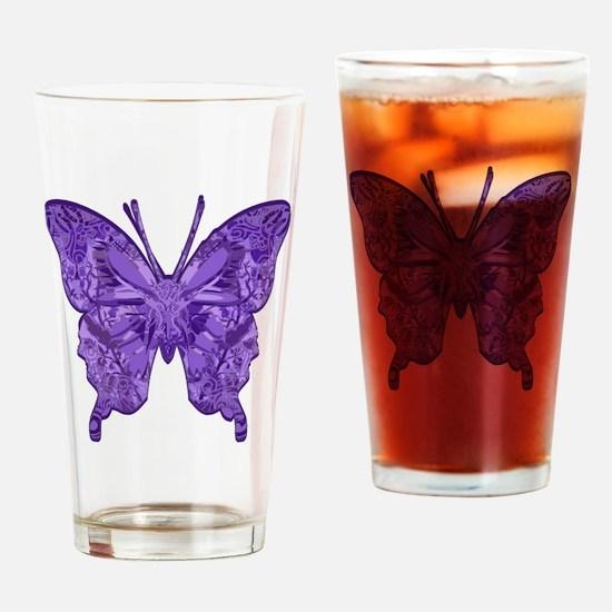 PillowBflyPtr Drinking Glass