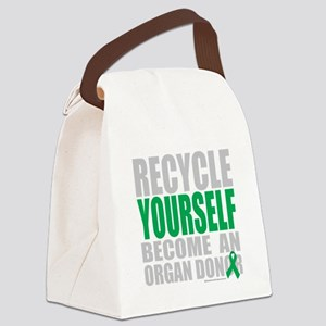 Recycle-Yourself-Organ-Donor-TCH- Canvas Lunch Bag