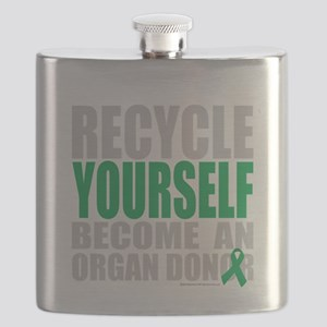 Recycle-Yourself-Organ-Donor-TCH-bk Flask