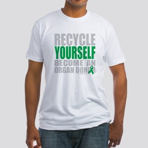 Recycle-Yourself-Organ-Donor-TCH-bk Fitted T-Shirt
