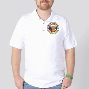 Venezuelan Drinking Team Glass Golf Shirt