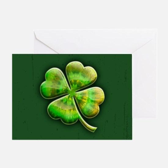 clover-tiedye2-OV Greeting Card