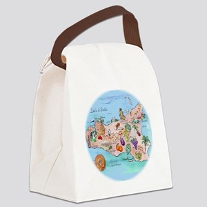 sic.map-1 Canvas Lunch Bag